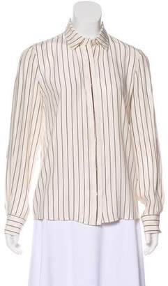 Frame Silk Striped Blouse