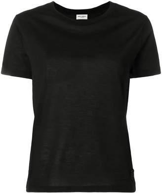 Saint Laurent logo crest patch T-shirt