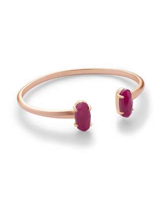 Kendra Scott Edie Rose Gold Bracelet in Maroon Jade