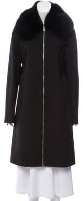 Michael Kors Wool Gaberdine Coat w/ Tags
