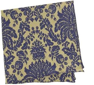 BEIGE 40 Colori & Blue Vintage Floral Printed Cotton Pocket Square