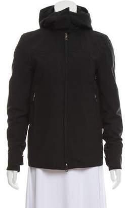 Prada Sport Hooded Zip-Up Coat