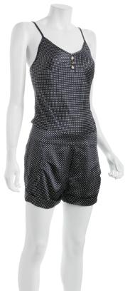 Johnson navy polka dot silk 'Agnes' jumpsuit