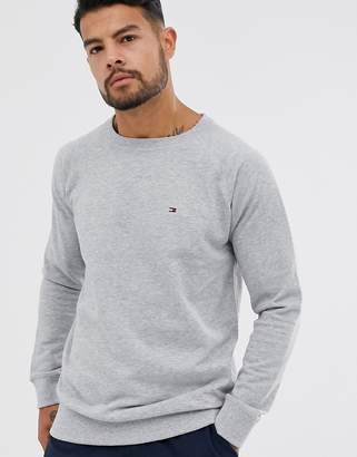 Tommy Hilfiger flag logo sweatshirt in gray marl