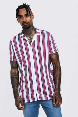 d0d08a71 Vertical Striped Shirt Men Short Sleeve - ShopStyle UK