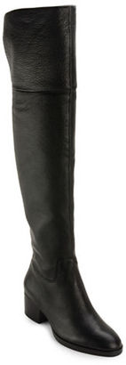 Lauren Ralph Lauren Dallyce Leather Over-the-Knee Boots $269 thestylecure.com