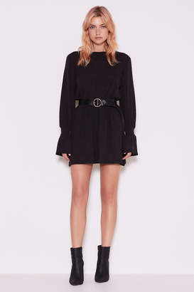 THE FIFTH FLUTE LONG SLEEVE DRESS charcoal