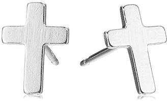 Silver Cross Sterling Stud Earrings