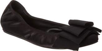 Lanvin Bow Satin Ballet Flat