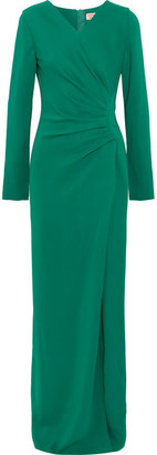 Lanvin - Gathered Stretch-crepe Gown - Green $2,895 thestylecure.com