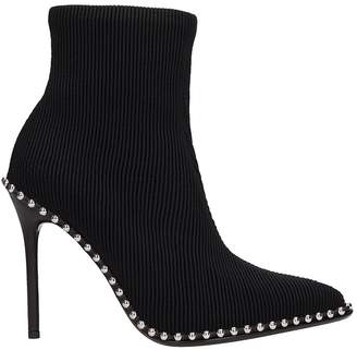 Alexander Wang Black Fabric Ankle Boots