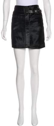 Helmut Lang Calf Hair Mini Skirt