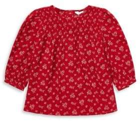 Ralph Lauren Childrenswear Baby Girl's Smocked Floral Top