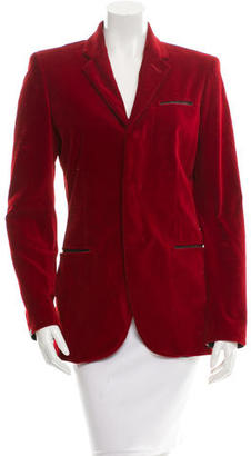 Jean Paul Gaultier Velvet Button-Up Blazer $95 thestylecure.com