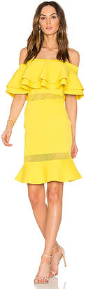 Endless Rose Flared Sweater Off The Shoulder Dress in Yellow $101 thestylecure.com