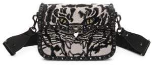Valentino Tiger Guitar Strap Rockstud Shoulder Bag