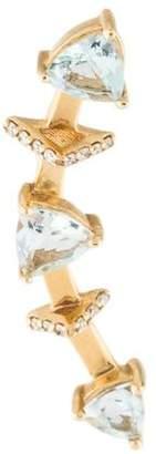 Paige Novick Phyne by 14K Diamond & Aquamarine Marta Ear Climber