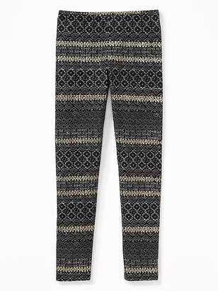 Old Navy Printed Full-Length Leggings for Girls