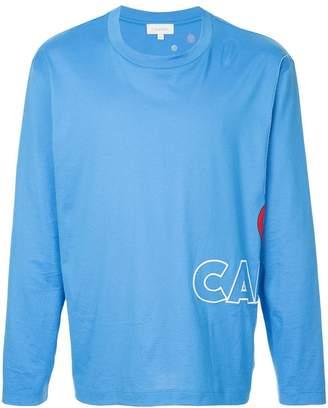 CK Calvin Klein logo embroidered long sleeve top