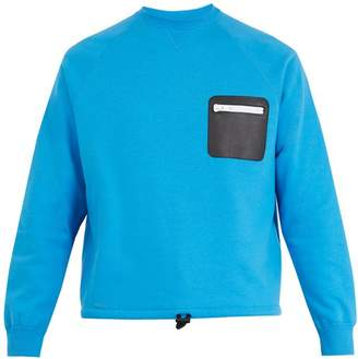 Valentino Leather Zip Patch Sweater - Mens - Blue