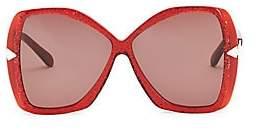 Karen Walker Women's 60MM Mary Red Glitter Sunglasses