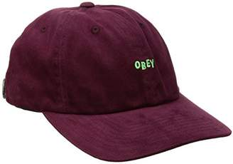 Obey Men's Cutty 6 Panel Snapback Hat