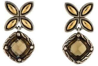 John Hardy Quartz Batu Kawung Drop Earrings