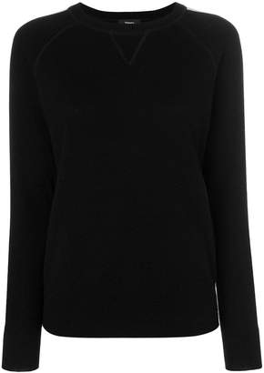 Theory striped sleeve jumper