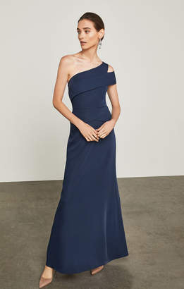BCBGMAXAZRIA Annely One-Shoulder Peplum Gown