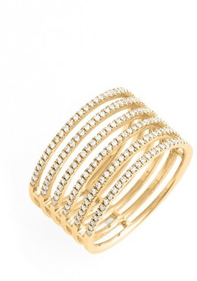 Women's Bony Levy 'Prism' Six-Row Diamond Ring (Nordstrom Exclusive) $2,595 thestylecure.com