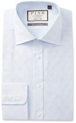 Thomas Pink Beadle Textured Classic Fit Dress Shirt