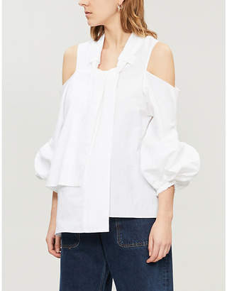 J.W.Anderson Puffed-sleeve cotton blouse