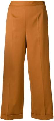 MM6 MAISON MARGIELA cropped wide leg trousers