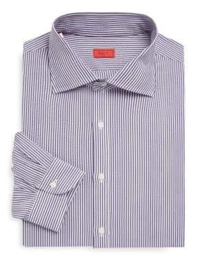 Isaia Seersucker Stripe Dress Shirt
