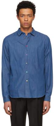 Paul Smith Blue Slim Denim Shirt