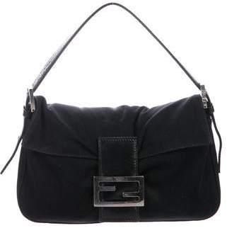 Fendi Leather-Trimmed Neoprene Baguette