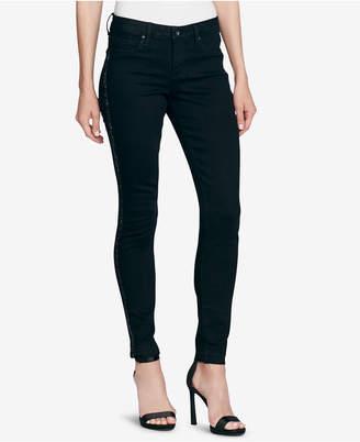 Jessica Simpson Juniors' Kiss Me Embellished Super-Skinny Jeans