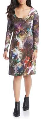 Karen Kane Abstract Print A-Line Dress