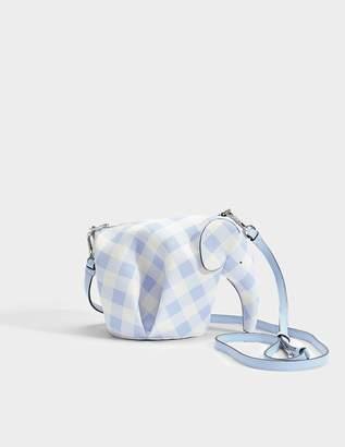 Loewe Éléphant Vichy Mini-sac En Veau Grainé Bleu Doux Doux JjNpDr6