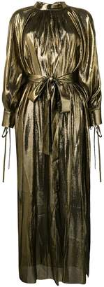 Osman Volita lamé gown