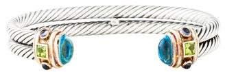 David Yurman Topaz, Peridot & Iolite Renaissance Double Bracelet