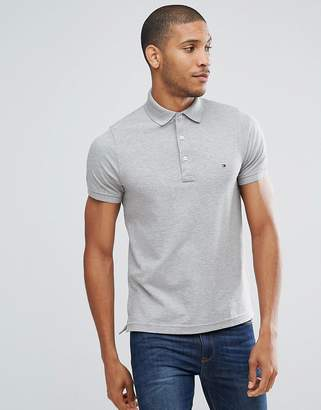 Tommy Hilfiger Slim Fit Polo In Grey