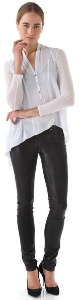 Helmut Lang High Gloss Skinny Jeans