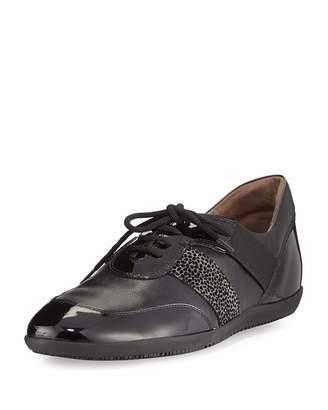 Sesto Meucci Helga Athleisure Leather Oxford, Black $149 thestylecure.com