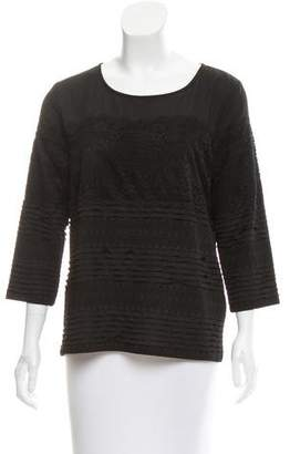 Karl Lagerfeld Lace-Accented Scoop Neck Top
