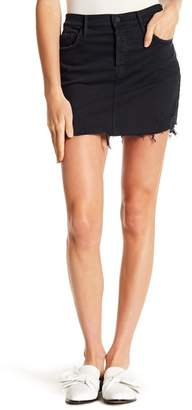 Mother Vegabond Frayed Denim Mini Skirt