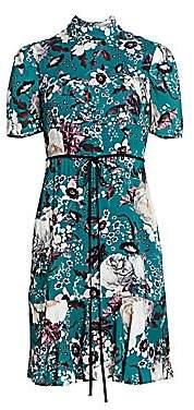 Erdem Women's Anne Floral Flounce Hem Dress