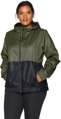 Core 10 Amazon Brand Women's Plus Size Water-Resistant Performance Windbreaker Jacket