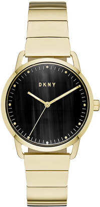 DKNY Women's Greenpoint Gold-Tone Stainless Steel Bracelet Watch 36mm, Created for Macy's