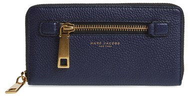 Marc JacobsWomen's Marc Jacobs 'Gotham' Leather Continental Wallet - Blue